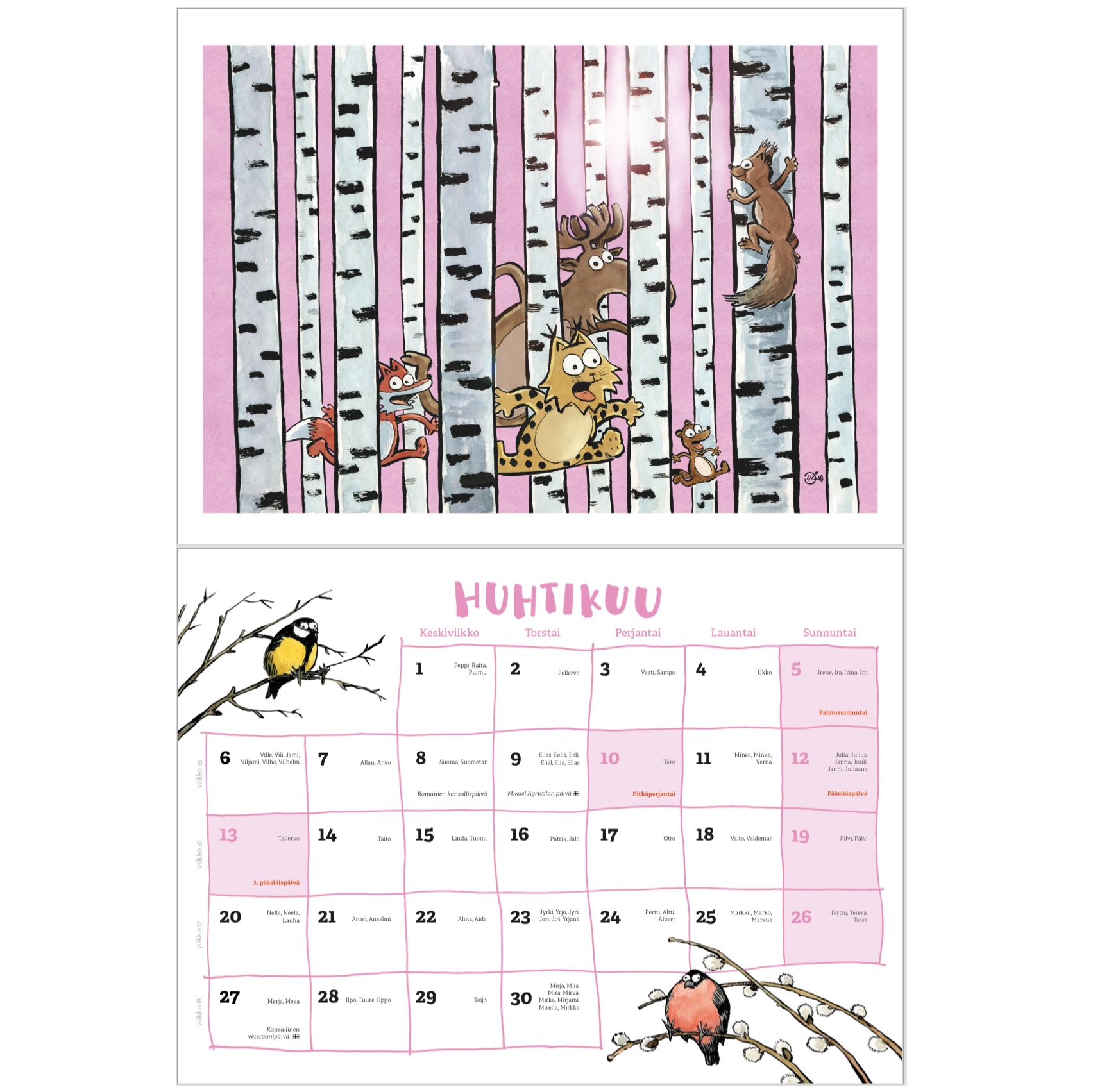 Kalenteri tammikuu 2020